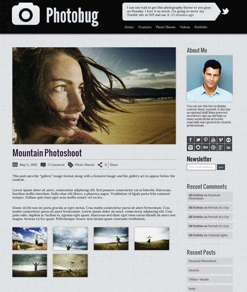 photobug organized avjthemescom 1 - Photobug WordPress Theme