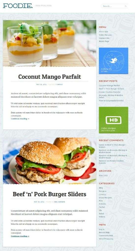 foodie mintthemes avjthemescom 01 - Foodie WordPress Theme