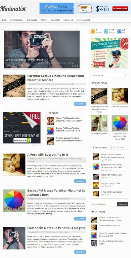 mythemeshop minimalist wordpress theme - MyThemeShop Minimalist WordPress Theme