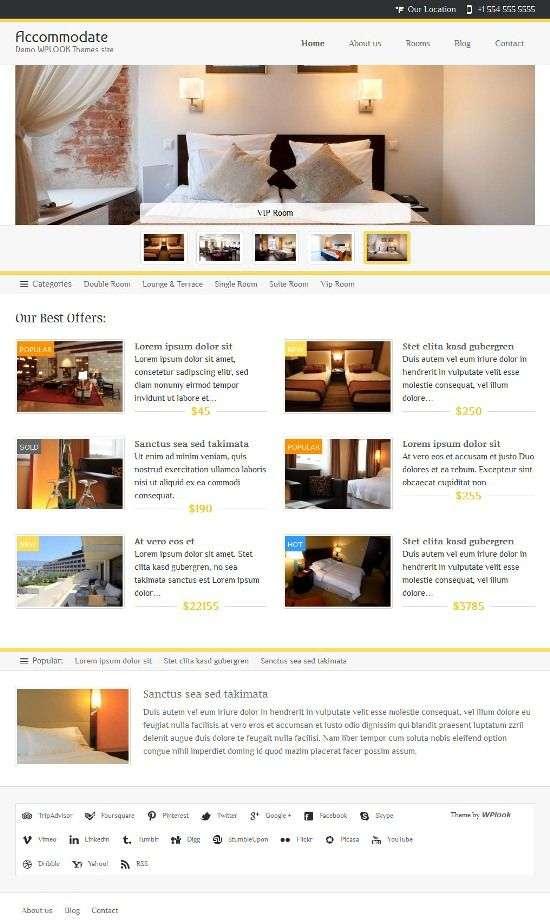 accommodate wplook avjthemescom 01 - Accomodate WordPress Theme