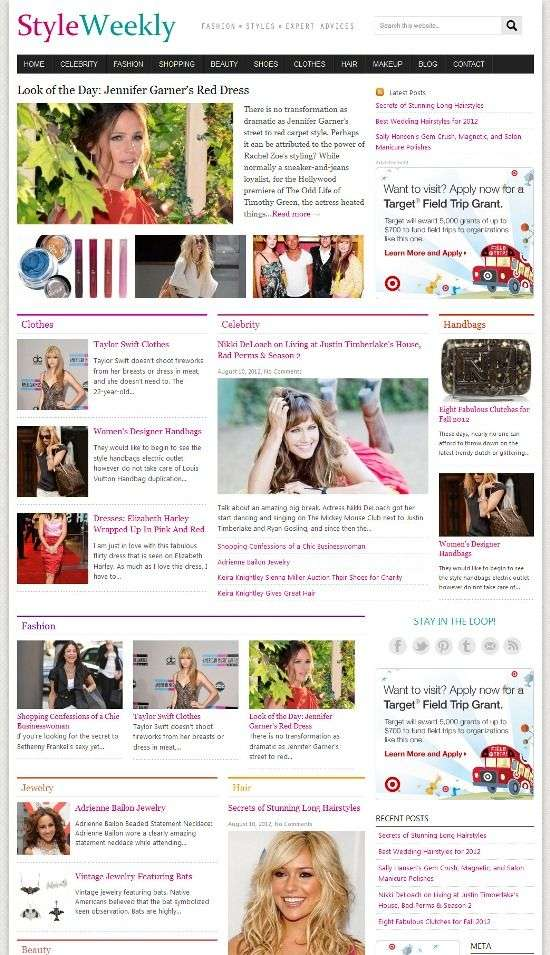 styleweekly cloverthemes - Styleweekly WordPress Theme
