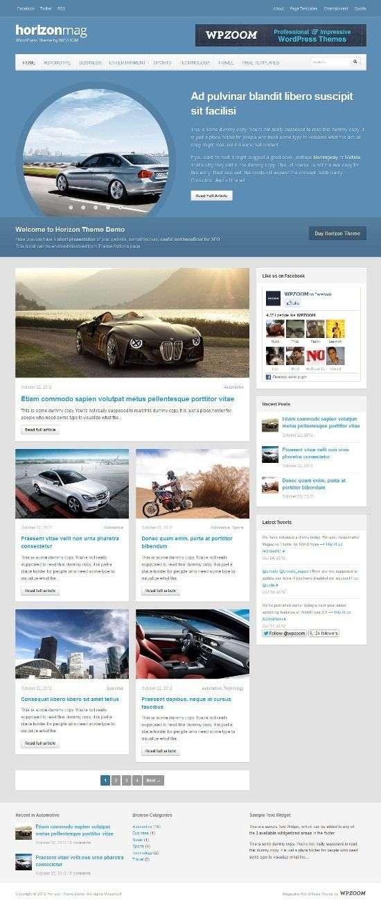 horizon wpzoom avjthemescom 01 - Horizon WordPress Theme