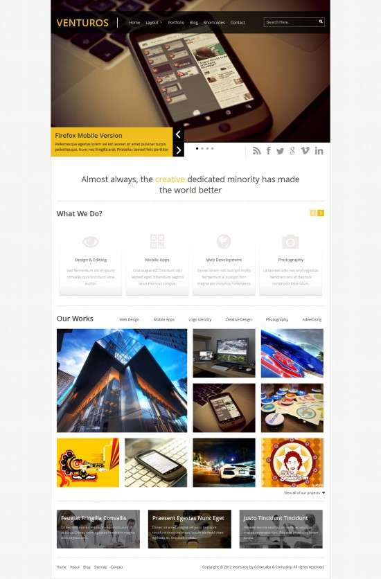 venturos colorlabsprojects avjthemescom 01 550x836 - Venturos WordPress Theme