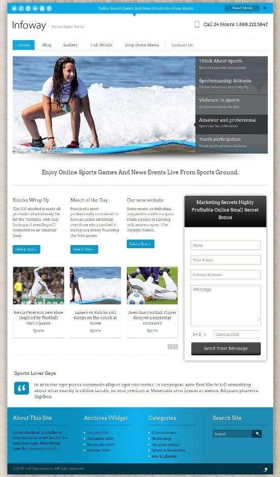 infoway inkthemes avjthemescom 01 - Infoway WordPress Theme