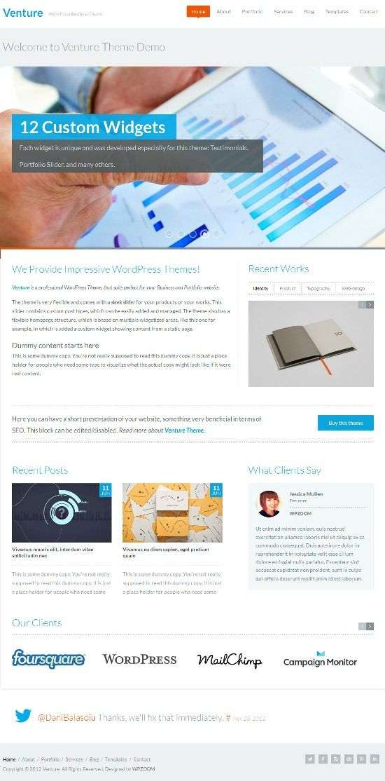 venture wpzoom avjthemescom 01 - Venture WordPress Theme