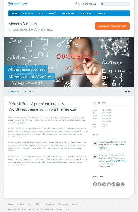 refresh pro frogsthemes avjthemescom 01 - Refresh Pro WordPress Theme