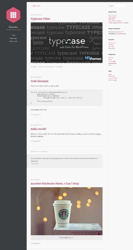 personality upthemes avjthemescom 01 - Upthemes Personality WordPress Theme