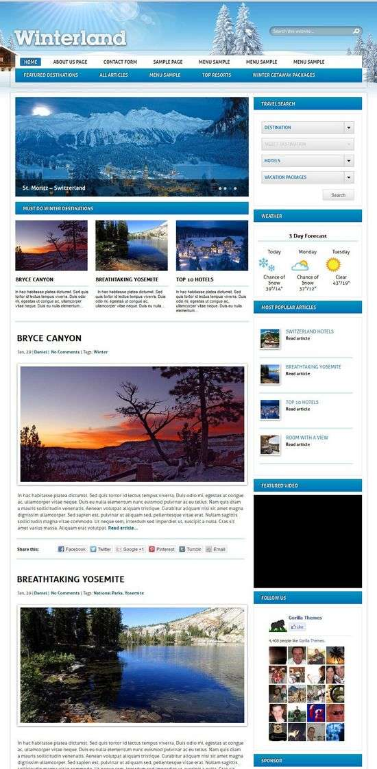 winterland gorillathemes avjthemescom 01 - Winterland WordPress Theme