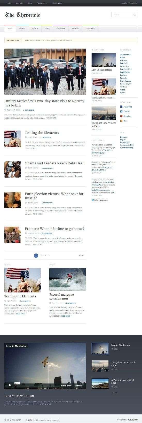 the chronicle wpzoom avjthemescom 01 - The Chronicle WordPress Theme