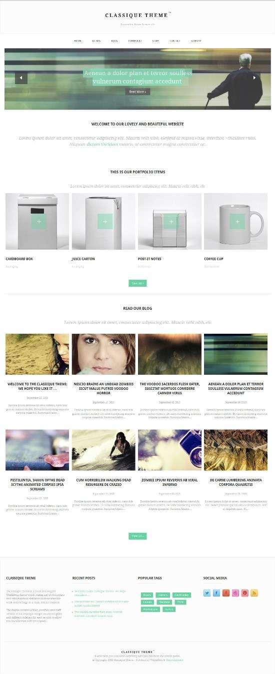 classique themefurnance avjthemescom 01 - Clasique WordPress Theme