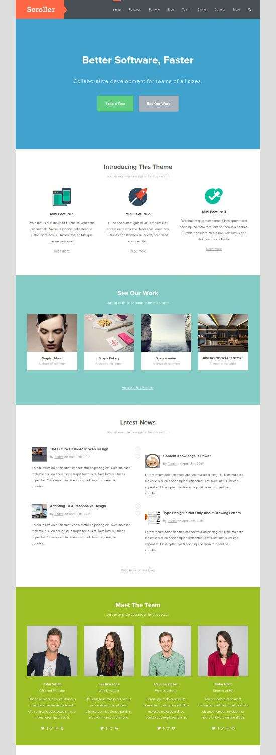 scroller themejunkie business - Scroller WordPress Theme
