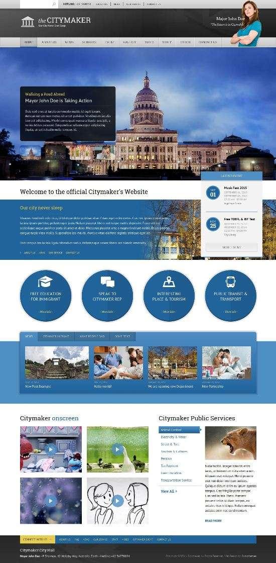 citymaker cubicthemes avjthemescom 01 - CityMaker WordPress Theme