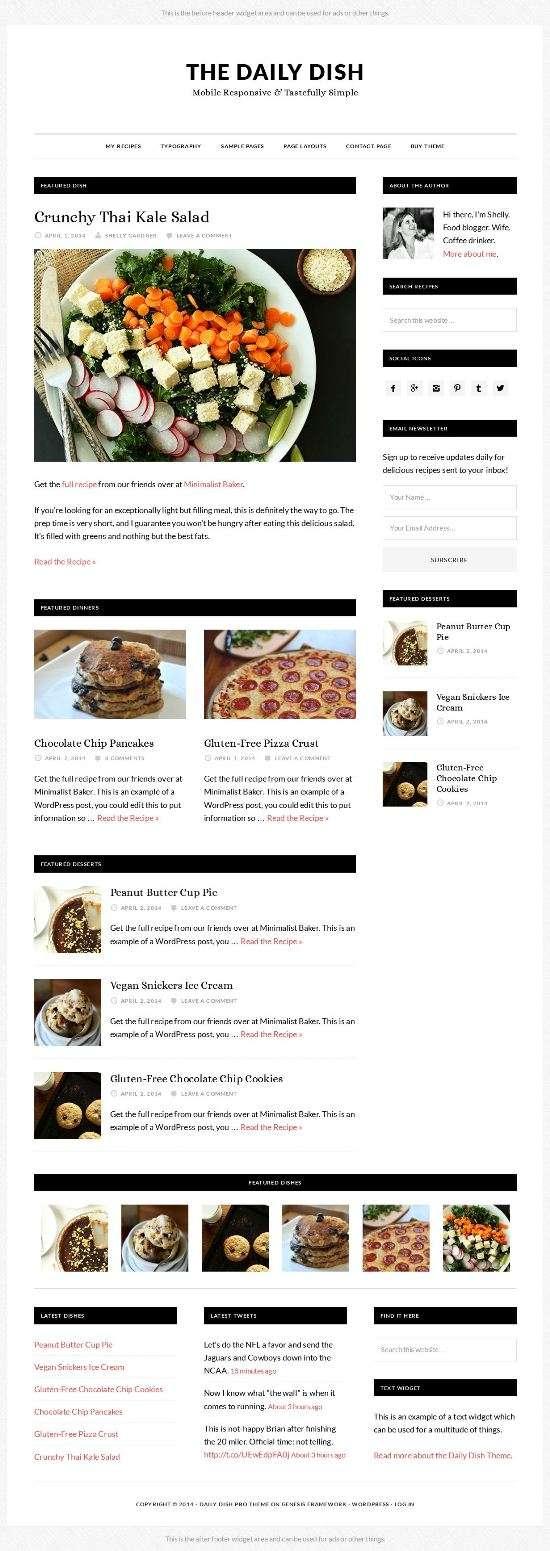 the daily dish studiopress avjthemescom 01 - The Daily Dish WordPress Theme