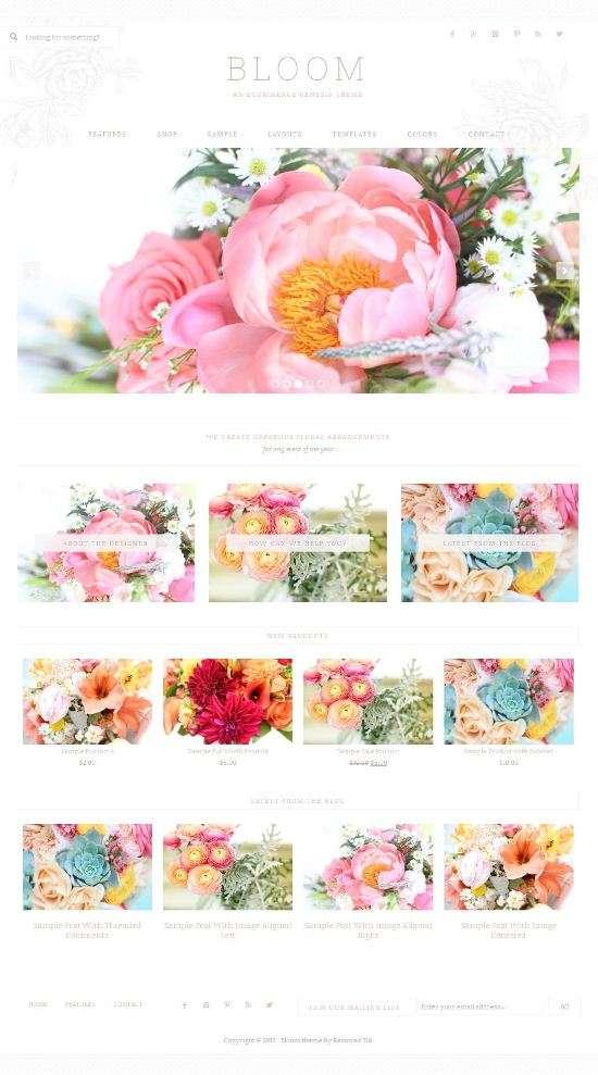 bloom restored316designs wordpress 01 - Restored316Designs Bloom WordPress Theme