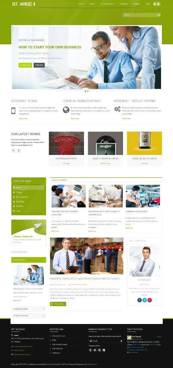 bt arise ii bowthemes joomla 1 - BT Arise II Joomla Template