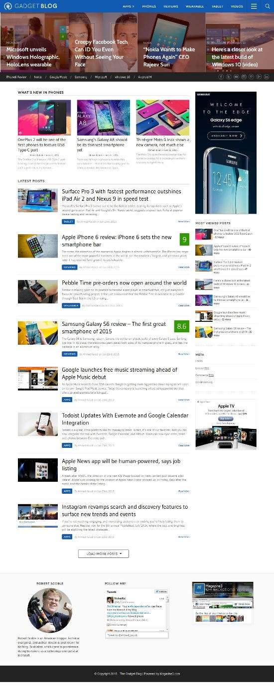 gadgetblog magazine3 tech blog theme 01 - GadgetBlog WordPress Theme