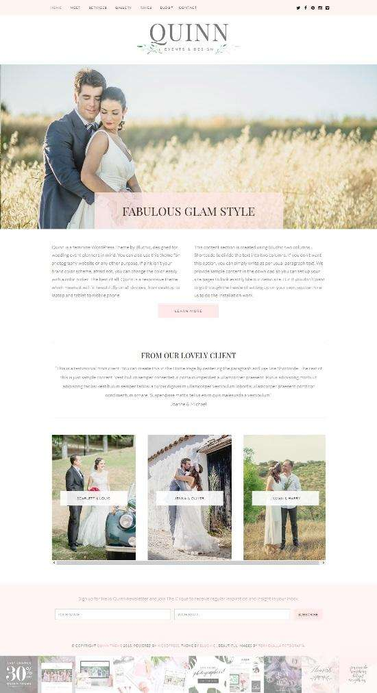 quinn theme for event planners - Quinn WordPress Theme