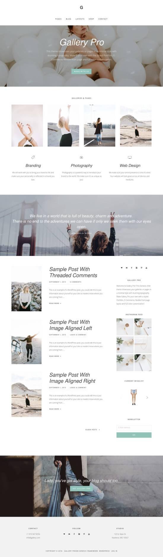 gallery pro studiopress wordpress theme 01 550x1876 - Gallery PRO WordPress Theme