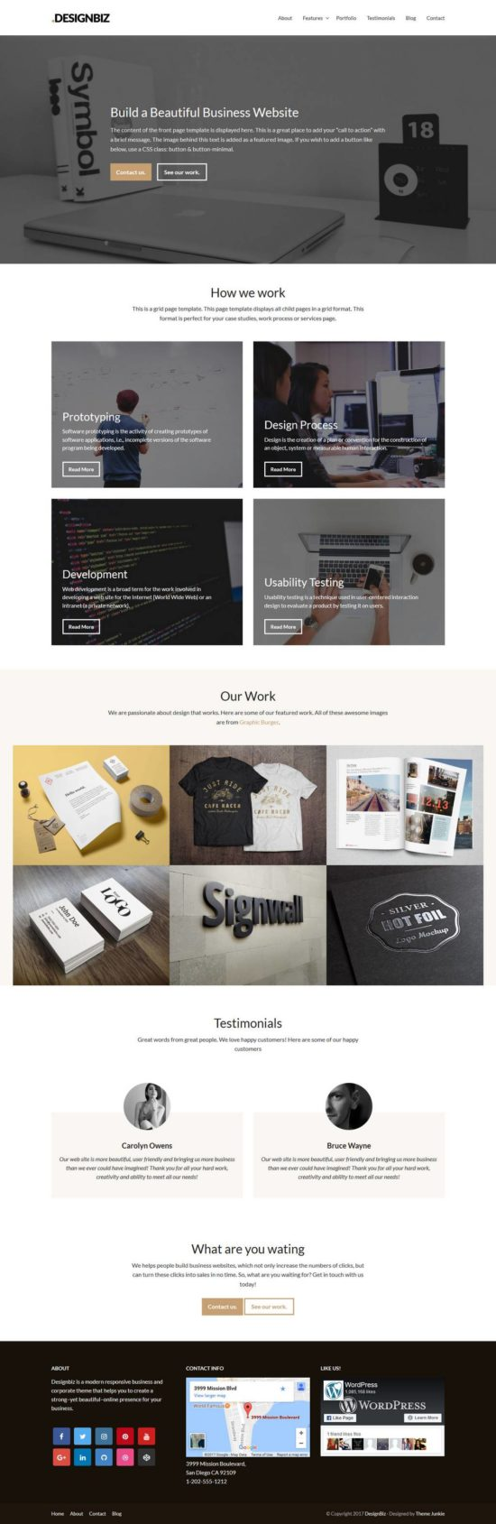 designbiz theme junkie wordpress theme 01 550x1689 - Designbiz WordPress Theme