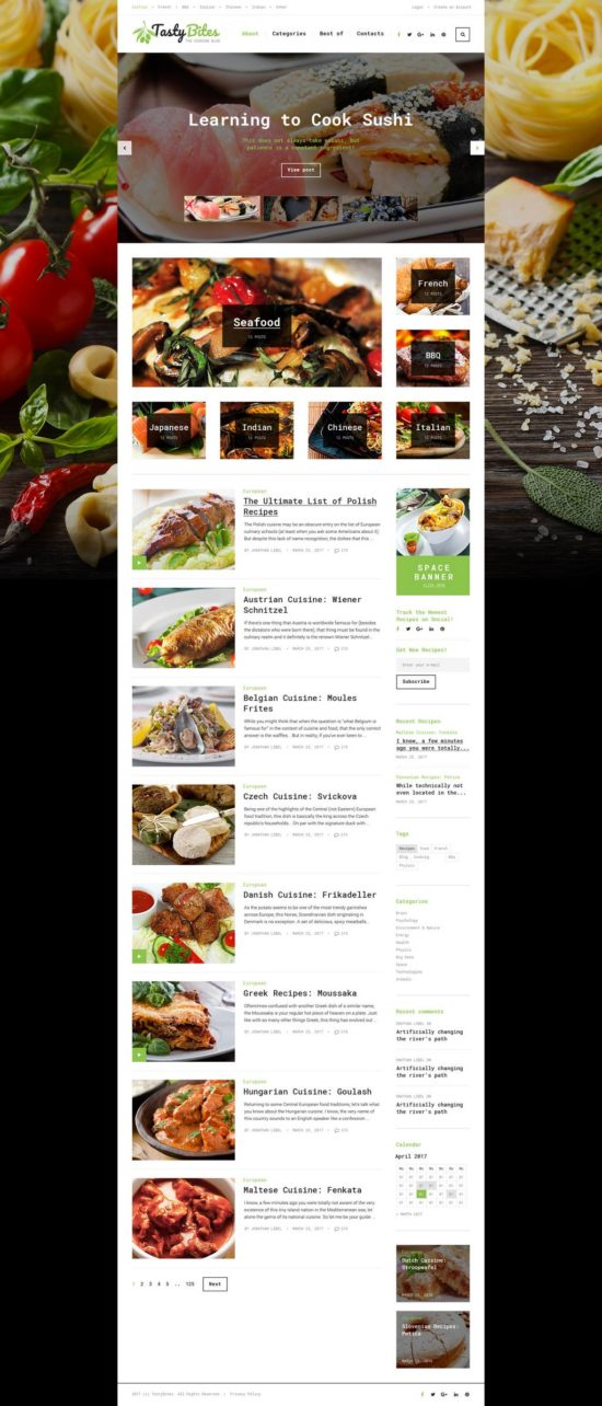 tastybites templatemonster wordpress themes 01 550x1284 - TastyBites WordPress Theme