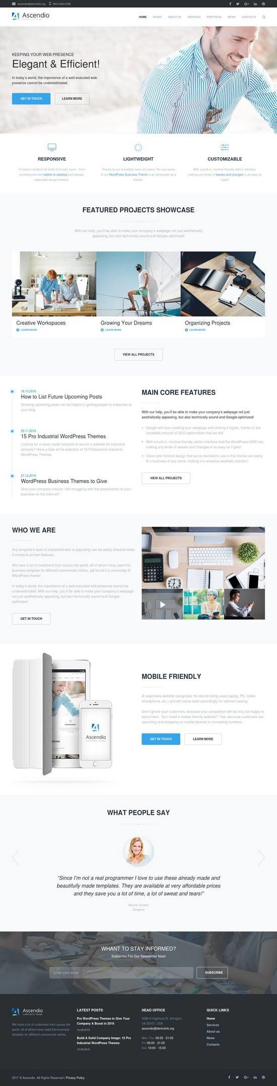ascendio business wordpress theme 01 550x2155 - Ascendio WordPress Theme