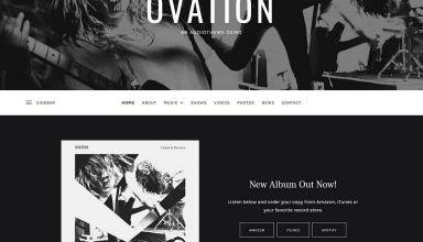 ovation audiotheme wordpress theme 01 - Ovation WordPress Theme