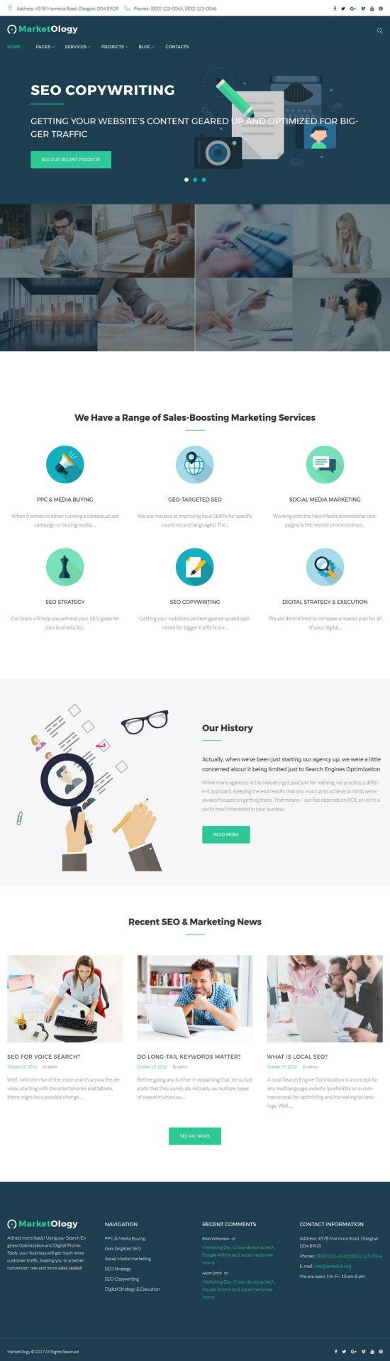 marketology templatemonster–wordpress theme 01 - MarketOlogy WordPress Theme
