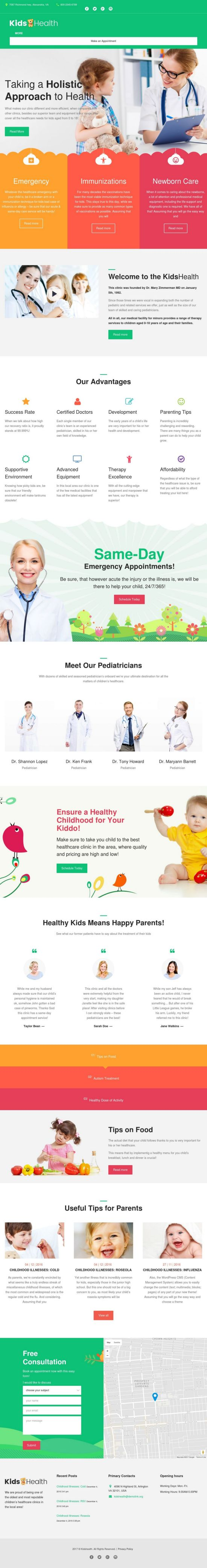 kidshealth wordpress theme templatemonster 01 - KidsHealth WordPress Theme