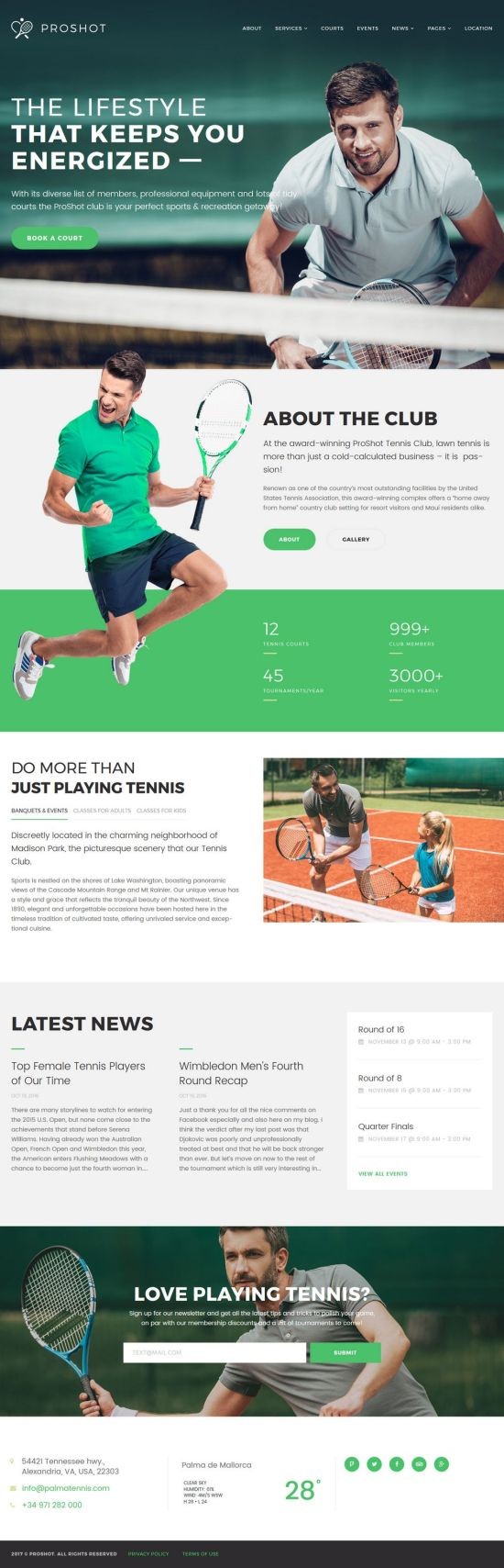 proshot wordpress theme sports theme 01 - ProShot WordPress Theme