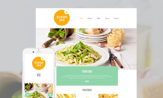 55187 big - Top 20 Food WordPress Themes with Flat Designs 2017