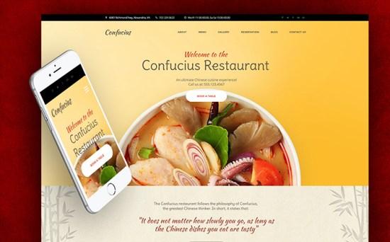 58926 big - Top 20 Food WordPress Themes with Flat Designs 2017