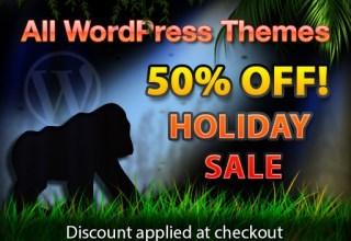 gorilla themes 50 off - Gorilla Themes 50% Off On Any Theme