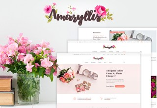 amaryllis wordpress theme 01 - Top 20 Fresh Feminine & Minimal WordPress Themes