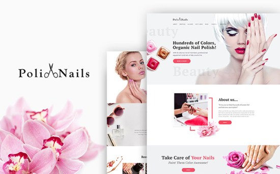 polinails wordpress theme 01 - Top 20 Fresh Feminine & Minimal WordPress Themes
