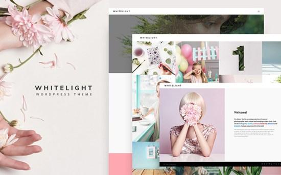 whitelight wordpress theme 01 - Top 20 Fresh Feminine & Minimal WordPress Themes
