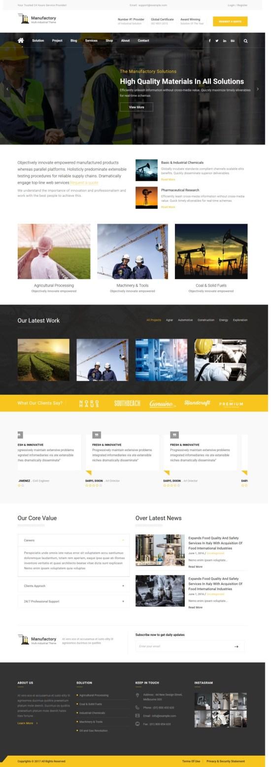 TM Manufactory WordPress Theme