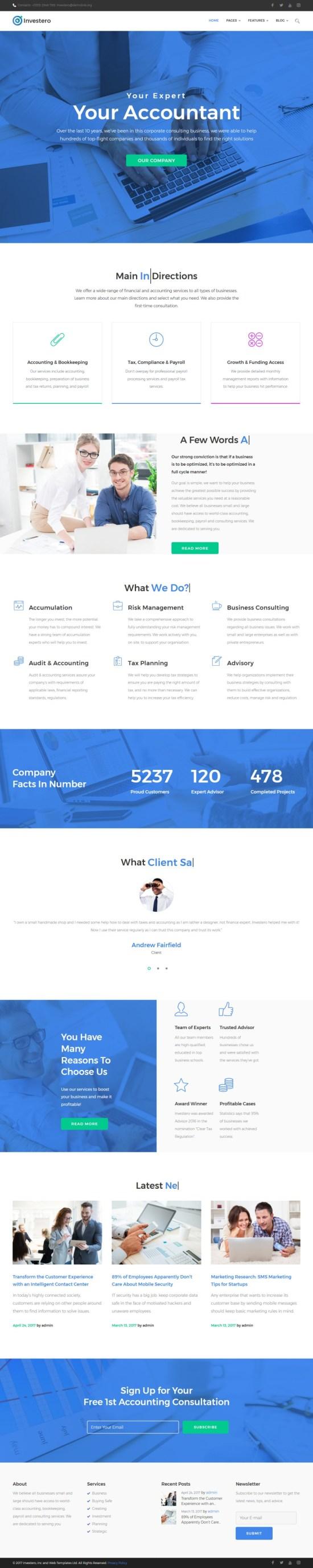 investero wordpress theme 01 - Investero WordPress Theme