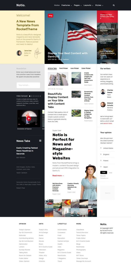 Notio Joomla Template