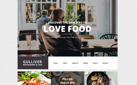 LoveFood: Cafe and Restaurant Responsive WordPress Theme
