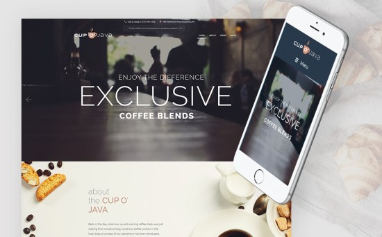Cup-o'-Joy: Coffee Shop WordPress Theme