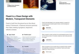 fluent joomla template 01 - Fluent Joomla Template