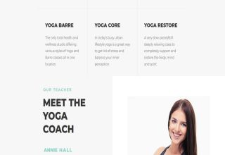 namaskar yoga wordpress theme 01 - Namaskar Yoga WordPress Theme