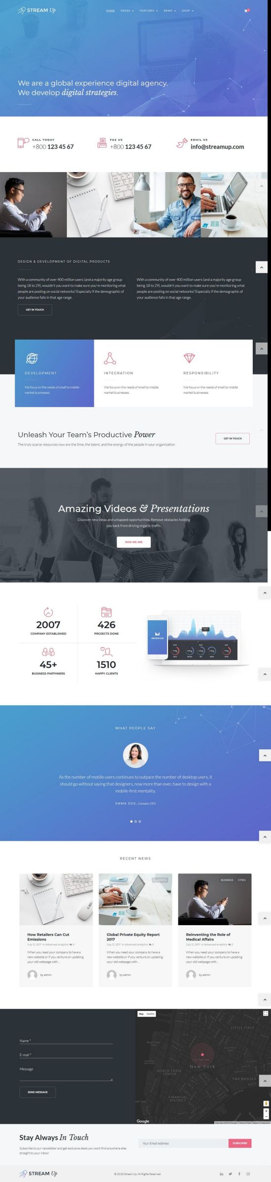 stream up wordpress theme 01 - Stream UP WordPress Theme