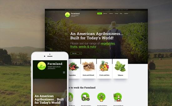 Farmland: Agriculture & Farming WordPress Themes