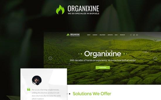 Organixine: Biofuel Company WordPress Theme