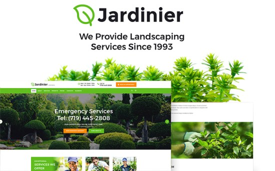 Jardinier: Landscaping Services WordPress Theme
