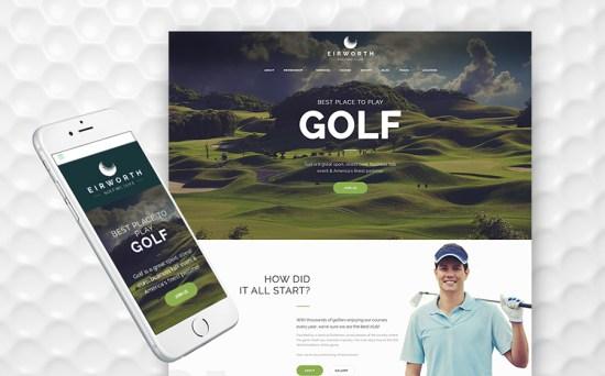 Eirworth - Golfing Club Responsive WordPress Theme