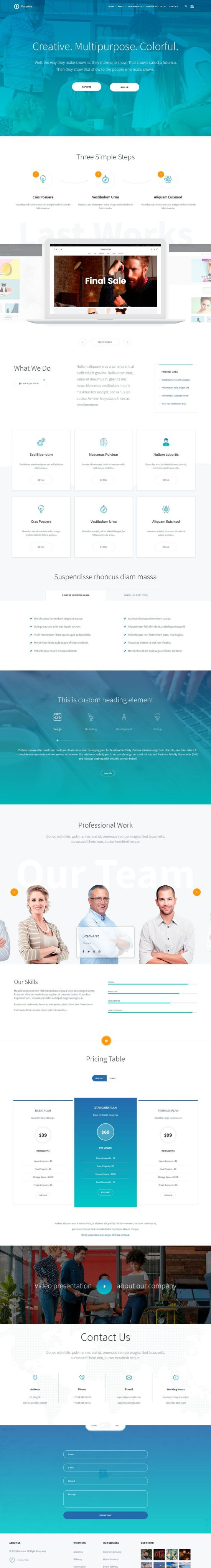 futurico wordpress theme 01 - Futurico WordPress Theme