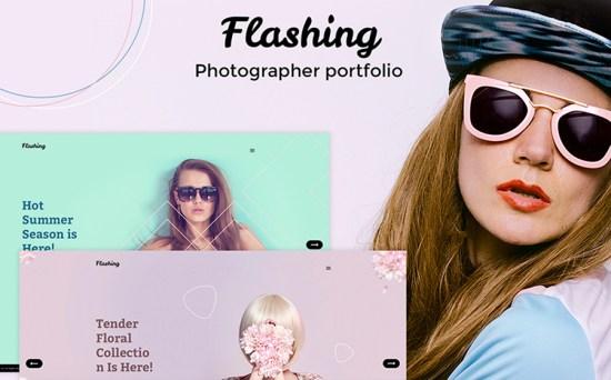 Flashing Photographer Portfolio Responsive WordPress Theme