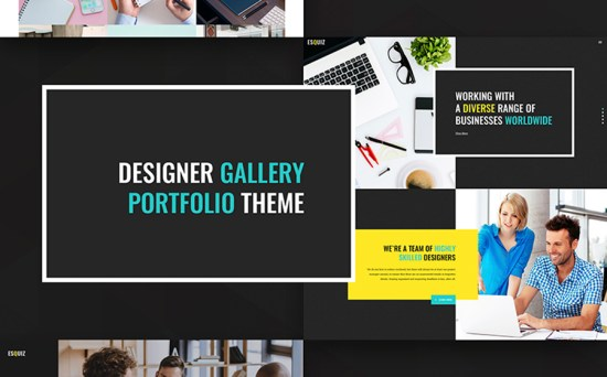 Esquiz - Design & Photography Studio WordPress Theme